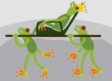 Le roi 2 de grenouille illustration stock
