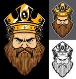 Le Roi Face Mascot illustration de vecteur