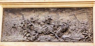 Le Roi Ferdinand Battle avec amarre Isabella Columbus Statue 1492 Photographie stock