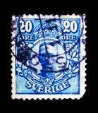 Le Roi Gustav V, serie, vers 1911 Photos stock