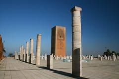 Le Roi Hassan Tower Maroc photos stock