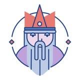 Le Roi Line Color Icon illustration stock