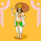 Le Roi Mahabali illustration de vecteur