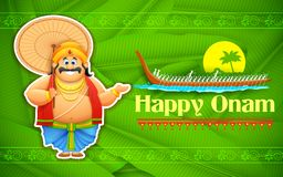 Le Roi Mahabali appréciant la régate de Kerla sur Onam Images libres de droits