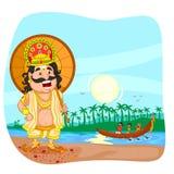 Le Roi Mahabali pour le festival d'Onam illustration de vecteur