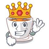 Le roi monnayent le thé dans une tasse de bande dessinée illustration stock