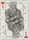 Le Roi mort Playing Cart illustration de vecteur