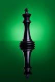 Le roi noir des échecs photo libre de droits