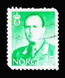 Le Roi Olav V, serie, vers 1958 Images libres de droits