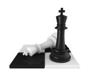 Le Roi Pieces Checkmate d'échecs illustration stock