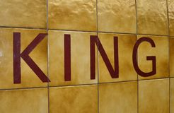 Le Roi plaque de rue Photographie stock
