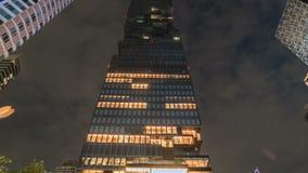 Le Roi Power Mahanakhon de plan rapproché est le nouveau plus haut bâtiment à Bangkok, Thaïlande Juillet 2018 banque de vidéos