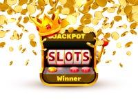 Le roi raine le casino de 777 bannières illustration libre de droits