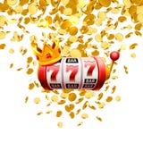 Le roi raine le casino de 777 banni?res sur le fond blanc illustration stock