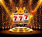 Le roi raine le casino de 777 banni?res sur le fond d'or illustration libre de droits