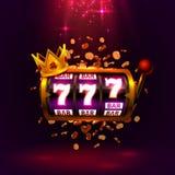 Le roi raine le casino de 777 banni?res sur le fond rouge illustration stock