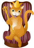 Le Roi rouge Cat illustration libre de droits