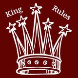 Le Roi Rules illustration de vecteur