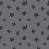 Le Roi sans couture Attribute Pattern de couronne Images libres de droits