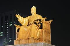 Le Roi Sejong Statue, Séoul, Corée Photo stock