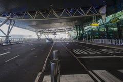 Le Roi Shaka Airport Entrance Images libres de droits