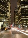 Le Roi Street Toronto la nuit photographie stock libre de droits