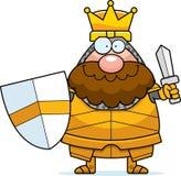 Le Roi Sword de bande dessinée illustration libre de droits
