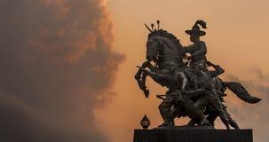 Le Roi Taksin The Great de la Thaïlande images stock