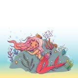 Le Roi Under de sirène et de poulpe la mer Photos stock