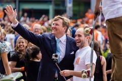 Le Roi Willem-Alexander des Pays-Bas, jour 2014, Amstelveen, Pays-Bas du ` s de roi Images libres de droits