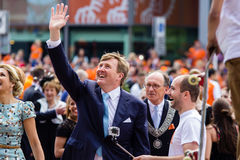 Le Roi Willem-Alexander et xima de ¡ de la reine MÃ des Pays-Bas, jour 2014, Amstelveen, Pays-Bas du ` s de roi Photographie stock