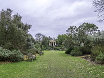 Le Roi Williams Temple Kew Gardens Winter Photo stock