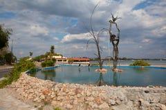 Le rond point à l'extrémité de Punta Gorda dans Cienfuegos, Cuba Photographie stock libre de droits