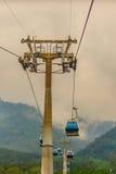 Le Ropeway de lac moon de The Sun est un service scénique de funiculaire de gondole Photo libre de droits
