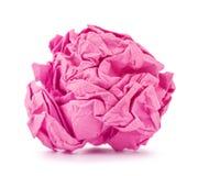 Le rose a chiffonné la boule de papier roulée Photographie stock