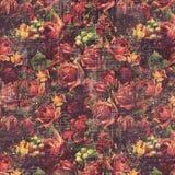Le rose d'annata antiche hanno modellato il fondo nei colori rustici di caduta immagine stock