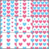 Le rose et le bleu chauffe les modèles sans couture de cimple réglés, vecteur illustration libre de droits