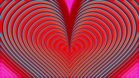 Le rose et les coeurs bleus examinent le fond de scintillement banque de vidéos