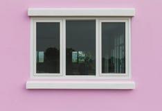 Le rose mure des vitraux Photo libre de droits