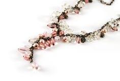 Le rose perle le collier Images stock