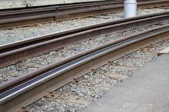 Le rotaie del tram Fotografia Stock Libera da Diritti
