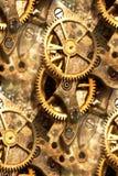le rouage d'horloge engrène l'abstrait Photographie stock