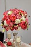 Le rouge élégant fleurit le bouquet Image stock