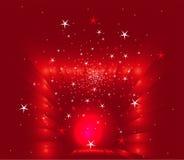 Le rouge abstrait de Noël stars le fond Photos libres de droits