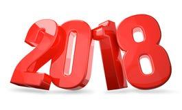 2018 le rouge audacieux 3d rendent Photos stock