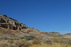 Le rouge bascule la montagne la Californie de pente de canyon Images libres de droits