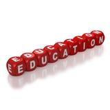 Le rouge bloque l'éducation d'orthographe Image libre de droits