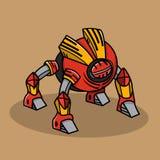 Le rouge branche le robot sur table d'écoute Images libres de droits