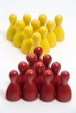 Le rouge contacte le jaune Image libre de droits