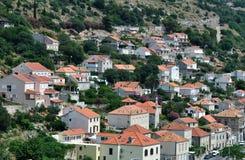 Le rouge couvre Dubrovnik Images libres de droits